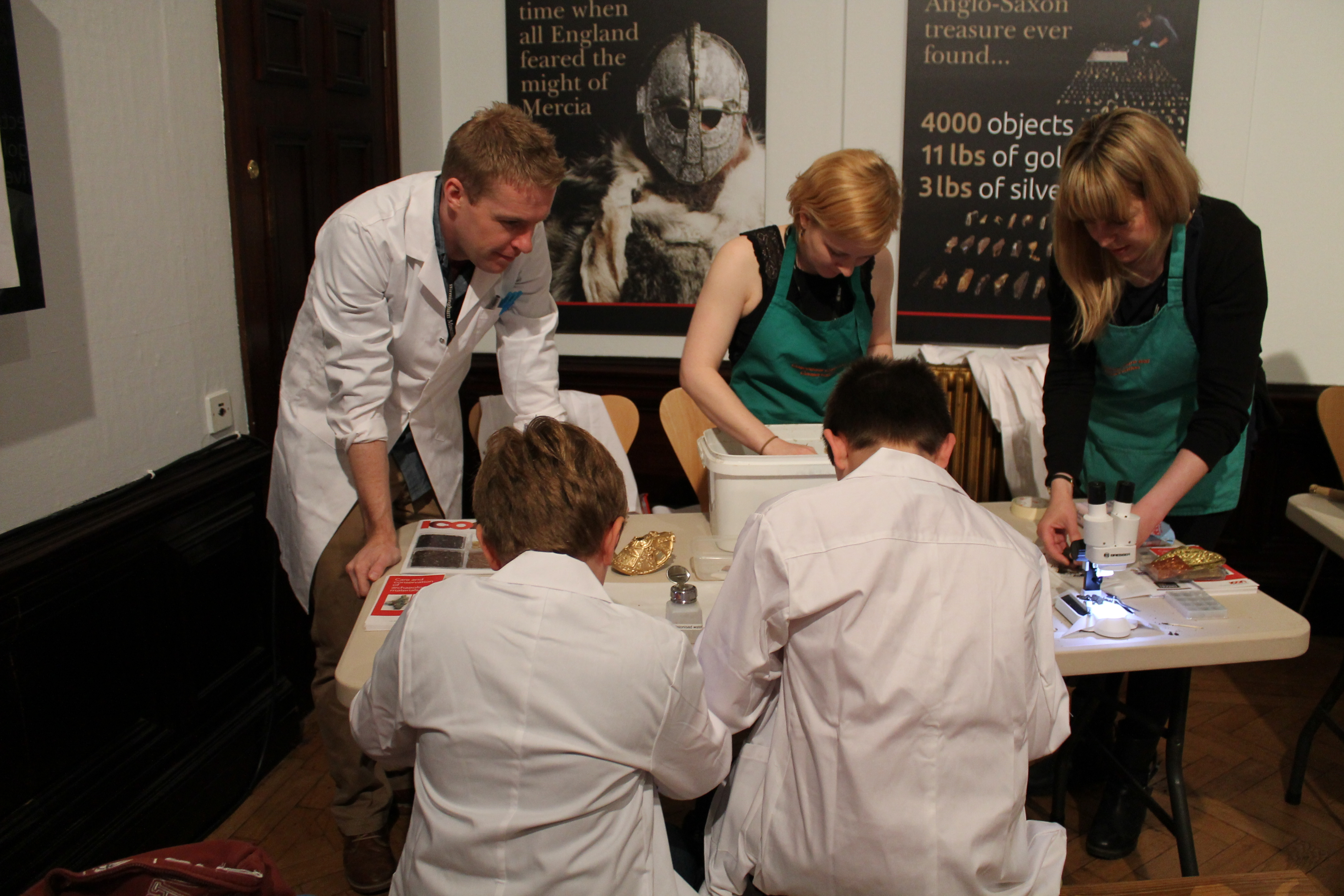 Hoard conservators at a Meet the Expert Day